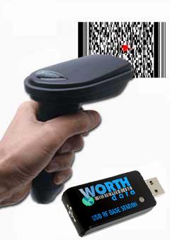 Barcode Scanner 520 Rf Cordless 2d Bar Code Reader