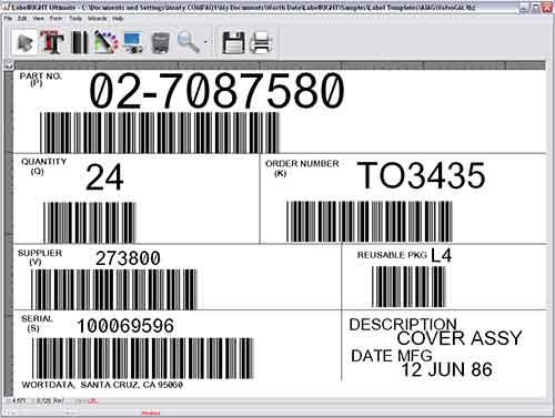 Labelright Ultimate Net Multi User Bar Code Label Design