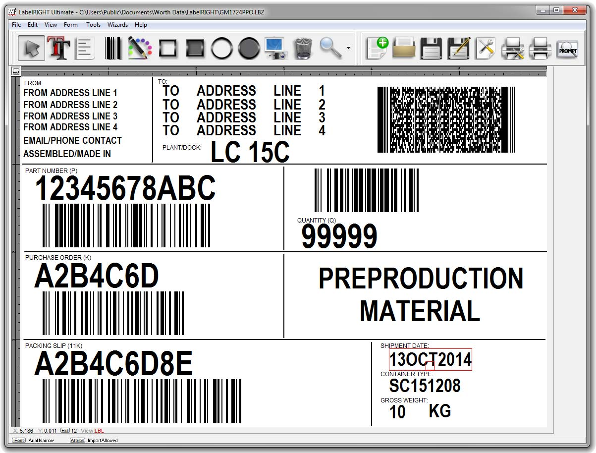 Labelright Ultimate For Windows Bar Code Label Design And Printing Laser Marked 2d Codes On Printed Circuit Board Software 29900